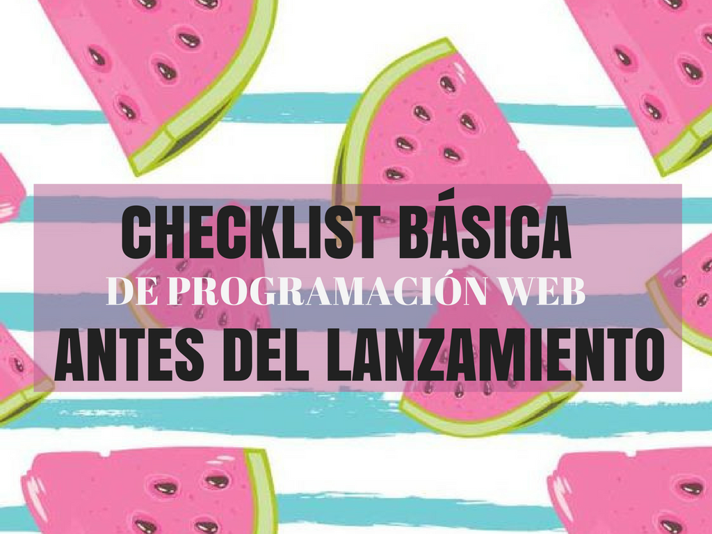 checklist-basica-programacion-web