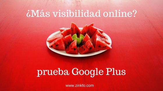 Gana visibilidad con Google Plus