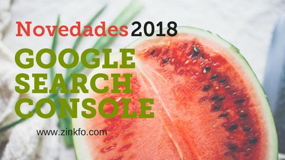 Nueva search console de Google