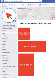 Formatos de foto para Facebook