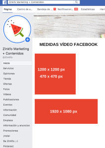 Formatos de vídeo para Facebook