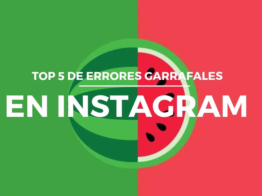 errores frecuentes en Instagram