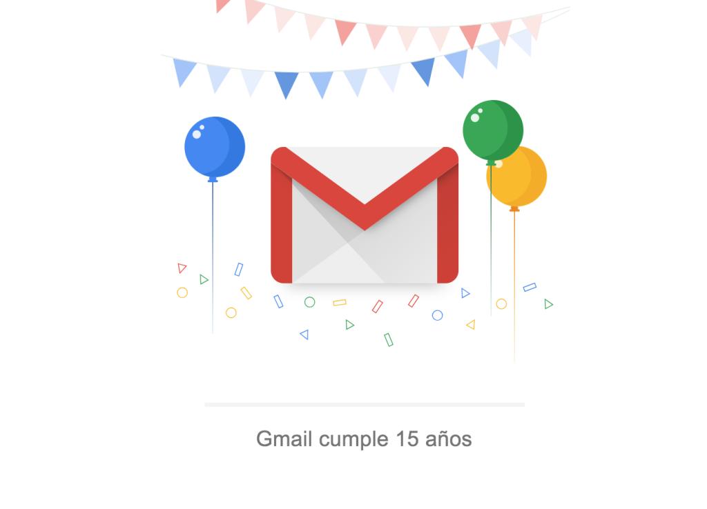 Gmail cumple 15 años | Agencia contenidos Mallorca