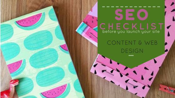 checklist seo contenido y diseño web