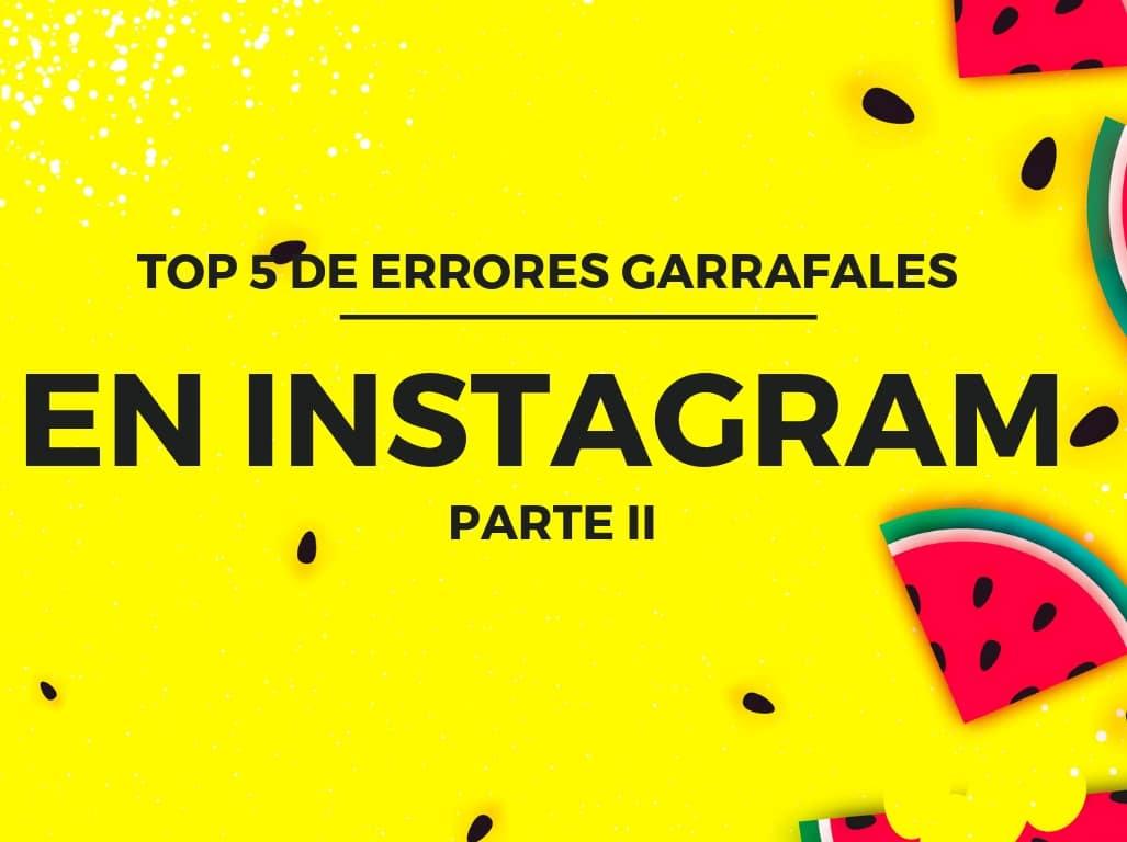 errores comunes en Instagram