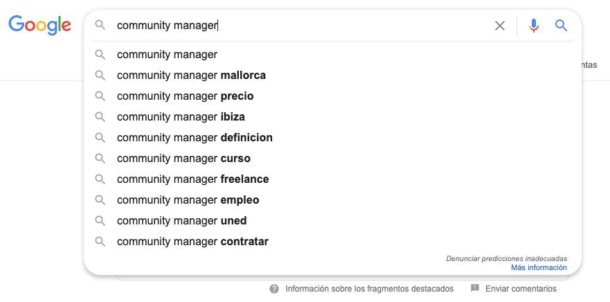 tipos de búsquedas en Google