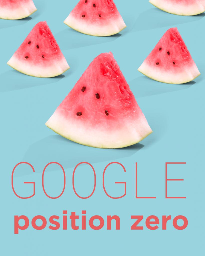 Google position zero