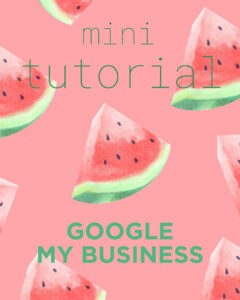 Blog Google My Business tutorial