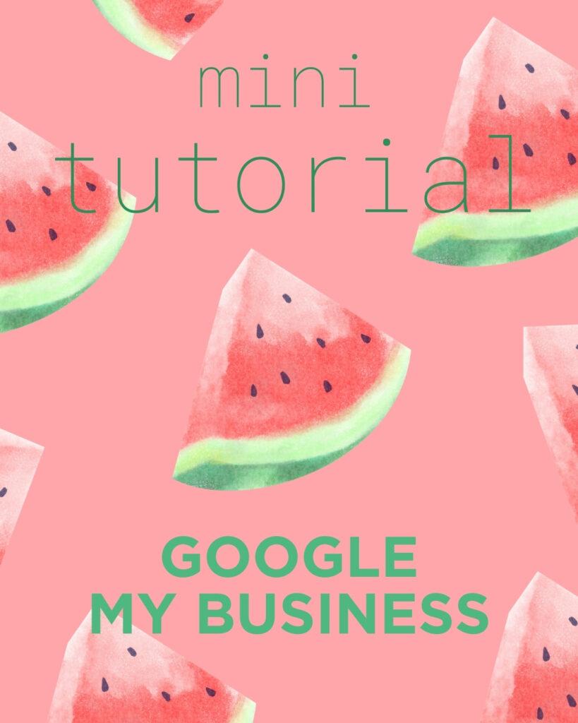 Blog Google My Business tutorial